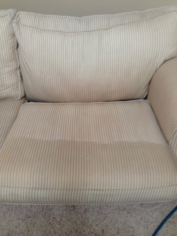 Upholstery steam cleaning, sanitizing and deodorizing in Locust Grove VA and Spotsylvania VA