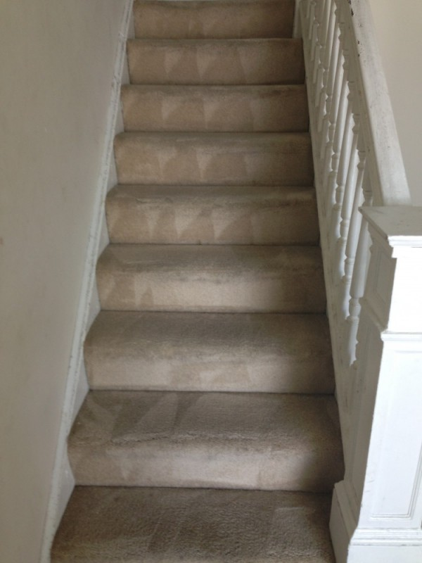 Stairs carpet cleaning and deep scrubbing in Fredericksburg VA and Stafford VA