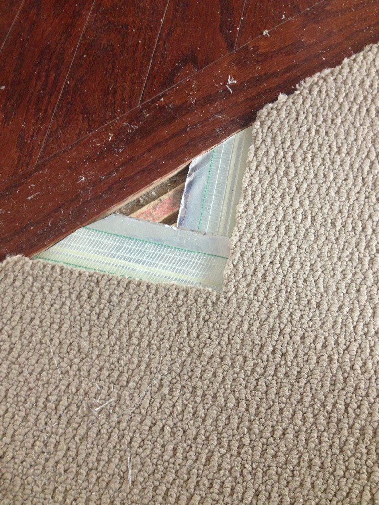 Stretching Carpet Video Images A