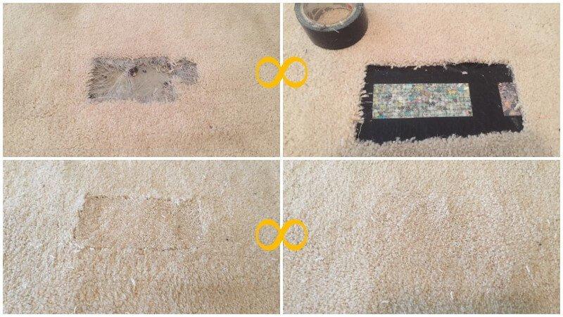 professional carpet repair in Fredericksburg VA. Pet damage carpet repair.